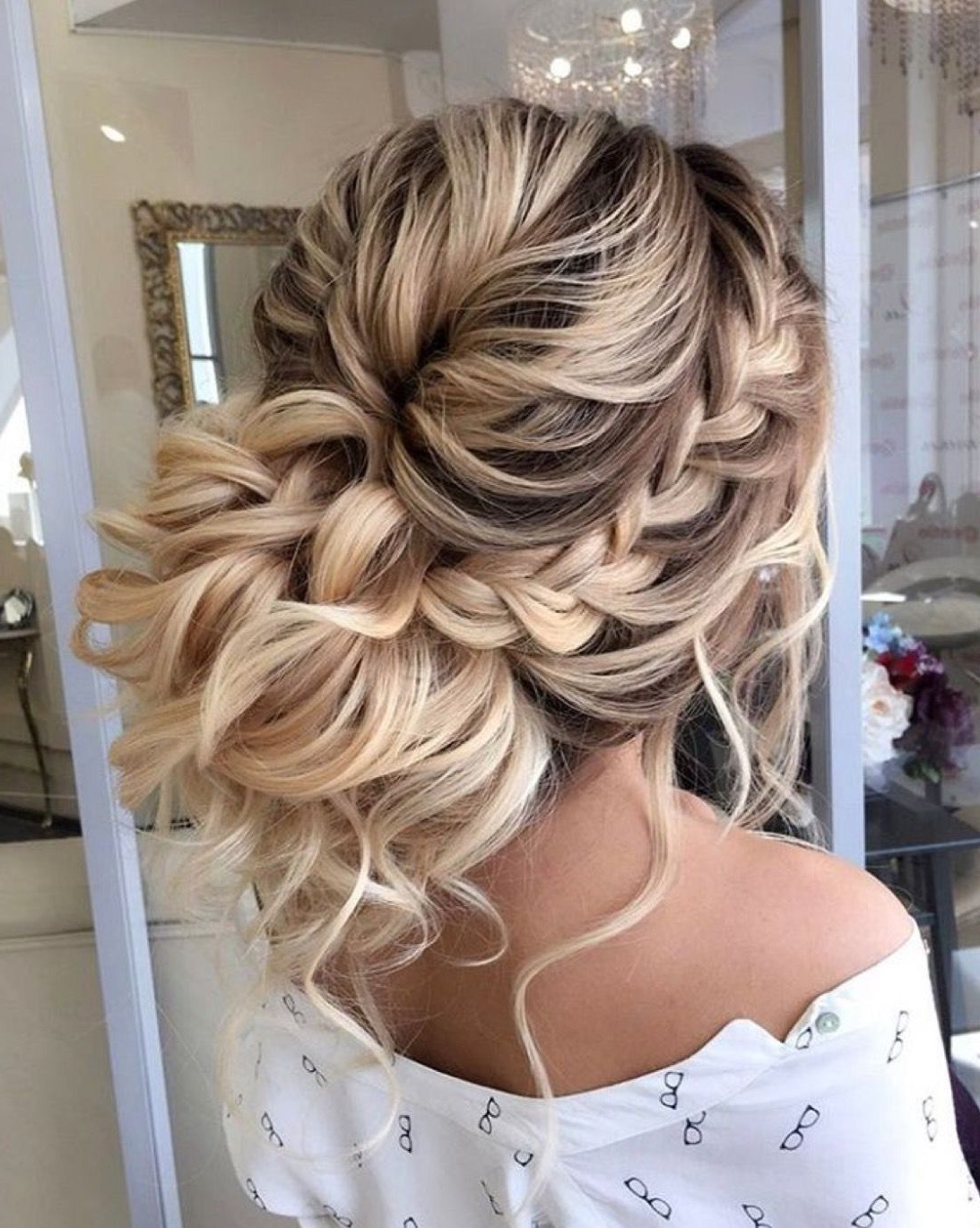 Widely Used Messy Buns Updo Bridal Hairstyles Intended For Low Messy Bun Updo With Curls And A Braid– Perfect Updo For A (View 20 of 20)