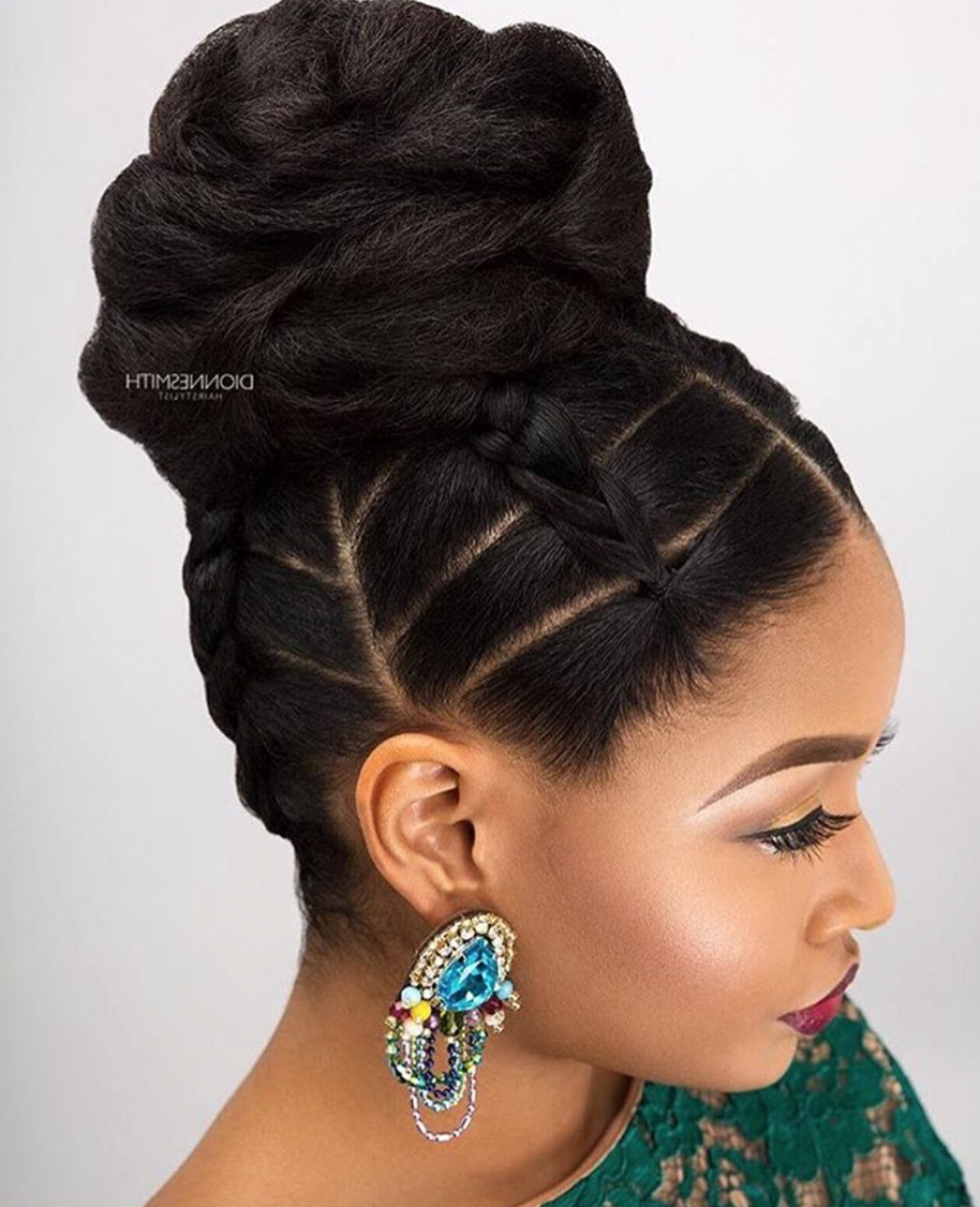 Widely Used Pin Up Curl Hairstyles For Bridal Hair Pertaining To Wedding Hairstyles For Black Women, African American Wedding Haircuts (View 19 of 20)