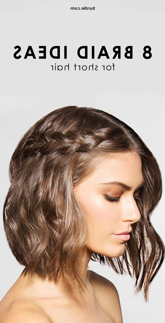 Widely Used Pulled Back Bridal Hairstyles For Short Hair Pertaining To 8 Cool And Easy To Pull Off Braids For Short Hair (View 3 of 20)