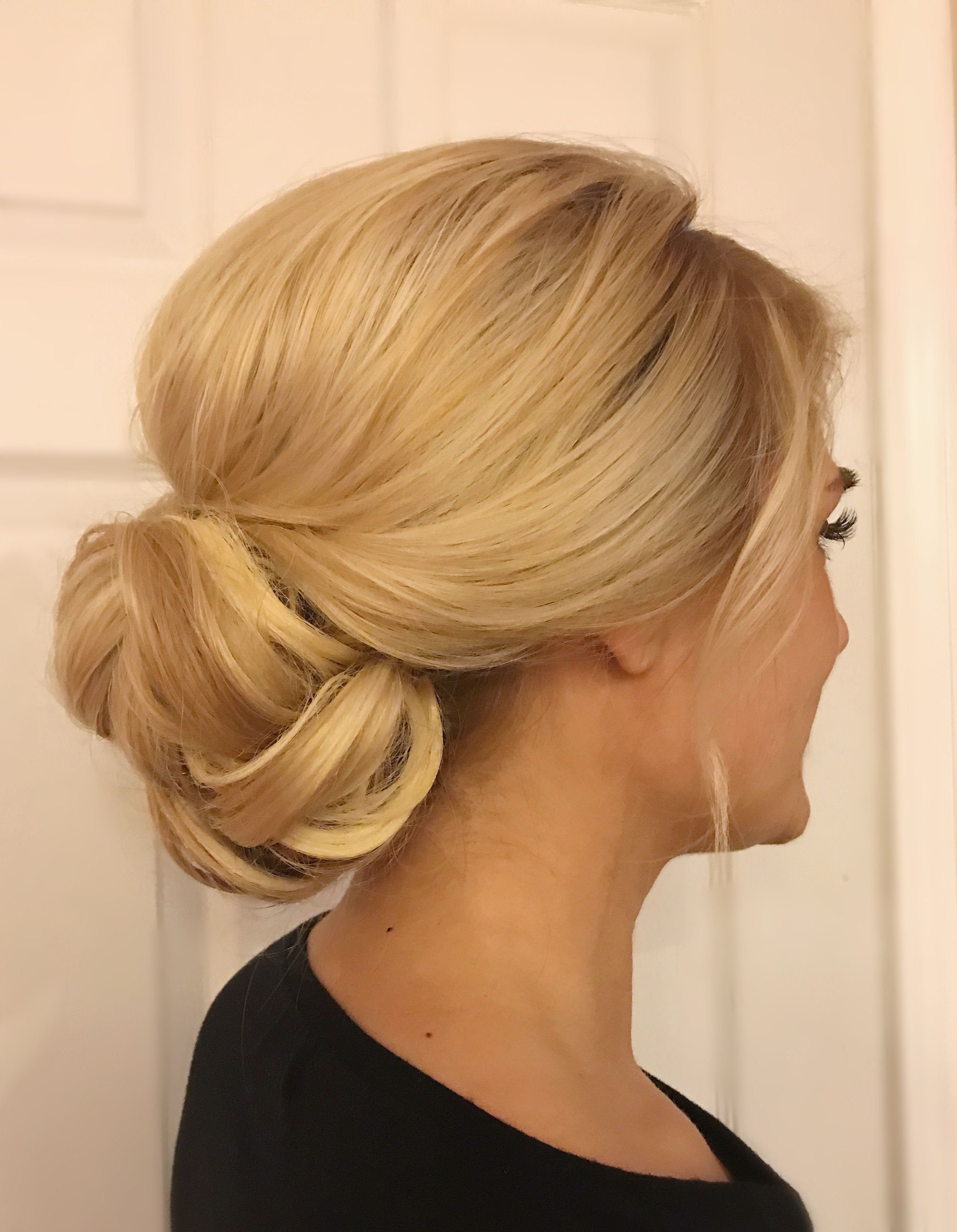 Widely Used Retro Wedding Hair Updos With Small Bouffant With Regard To Bridal Updo@shelbywhite_Hmu, Low Bun, Wedding Hair (Gallery 12 of 20)