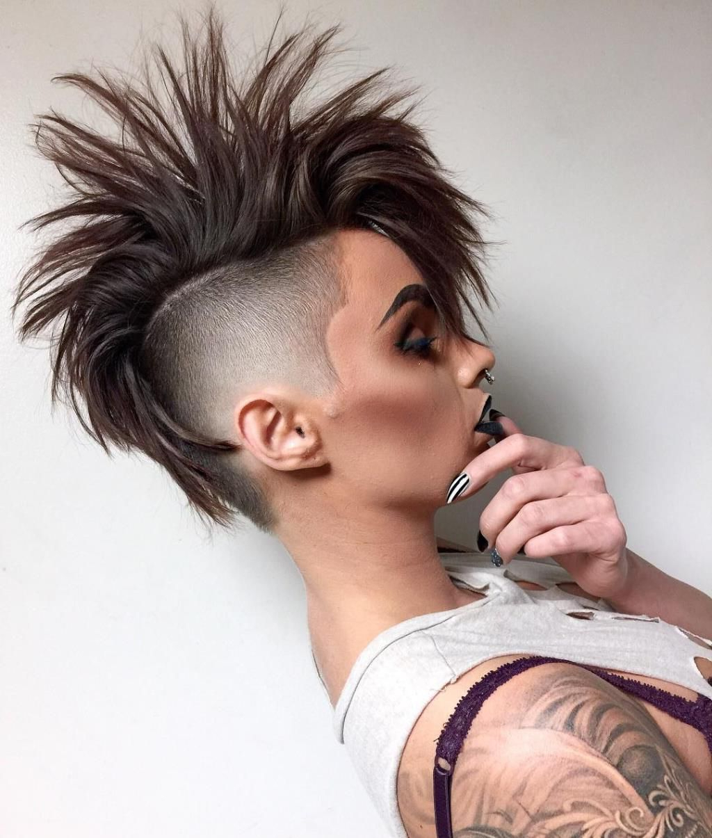 Widely Used Short Hair Wedding Fauxhawk Hairstyles With Shaved Sides In That Fade!!! Sexy Mohawk Girls (View 19 of 20)