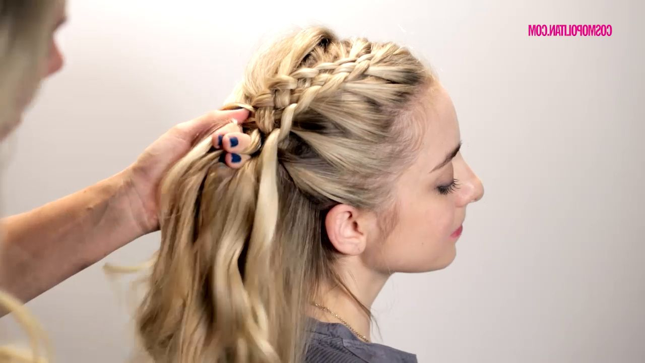 Woven Side Braid Hyperlapse: Try Out This Gorgeous Alternative To Throughout Famous Short Side Braid Bridal Hairstyles (View 19 of 20)
