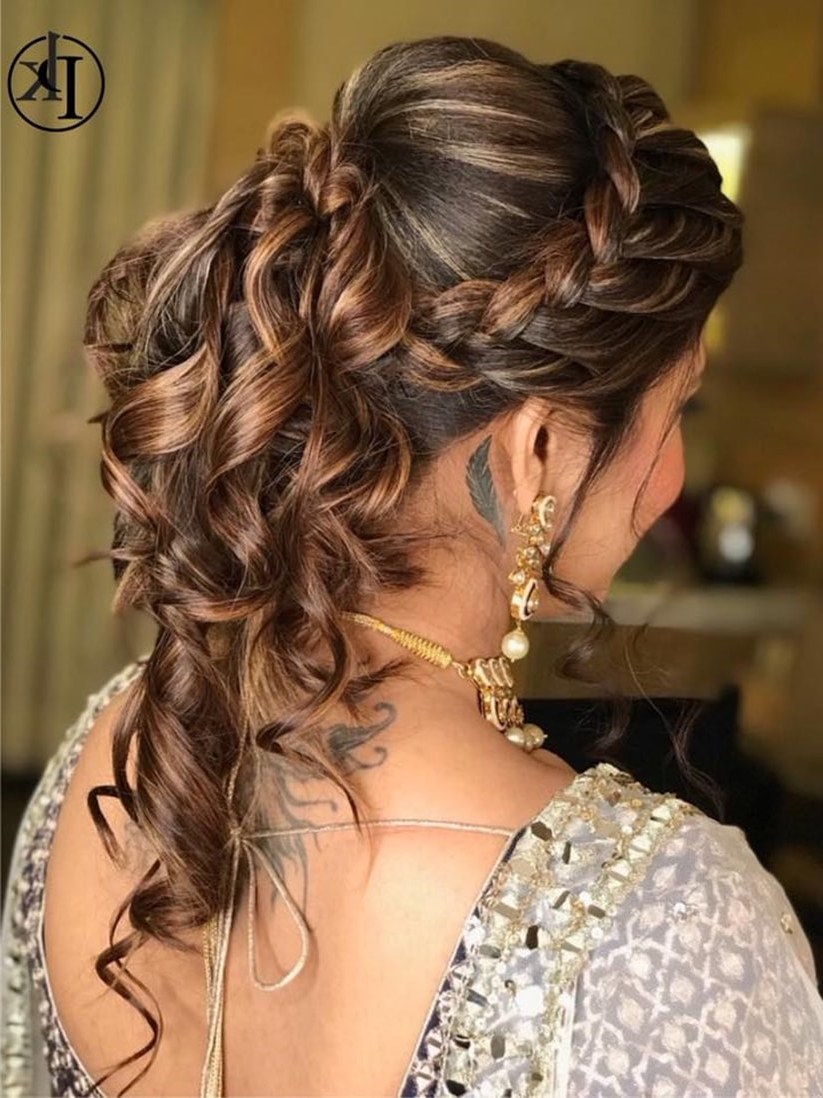 Your How To Guide On South Indian Bridal Hairstyles For Engagement With Regard To Well Known Short Side Braid Bridal Hairstyles (Gallery 13 of 20)