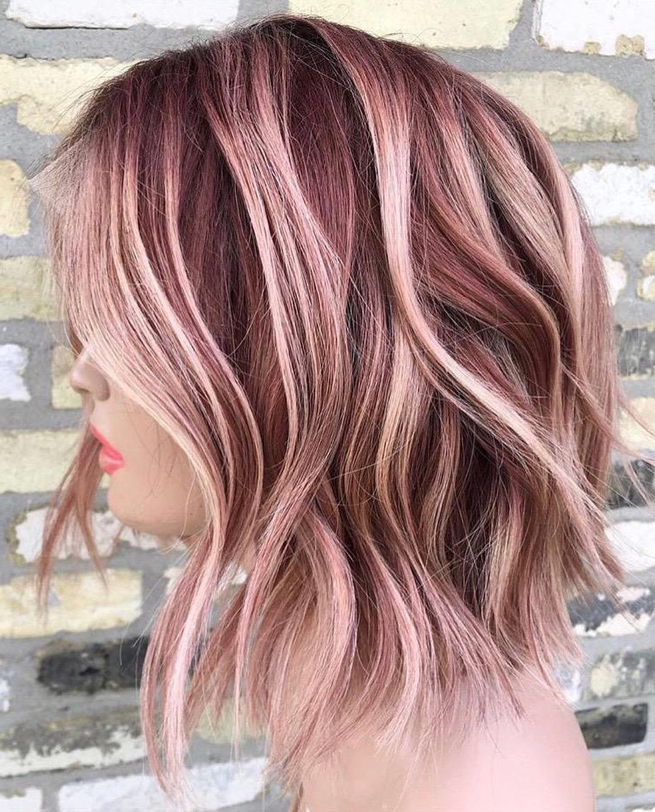 10 Creative Hair Color Ideas For Medium Length Hair, Medium Haircut 2019 Pertaining To Newest Light Layers Hairstyles Enhanced By Color (Gallery 8 of 20)