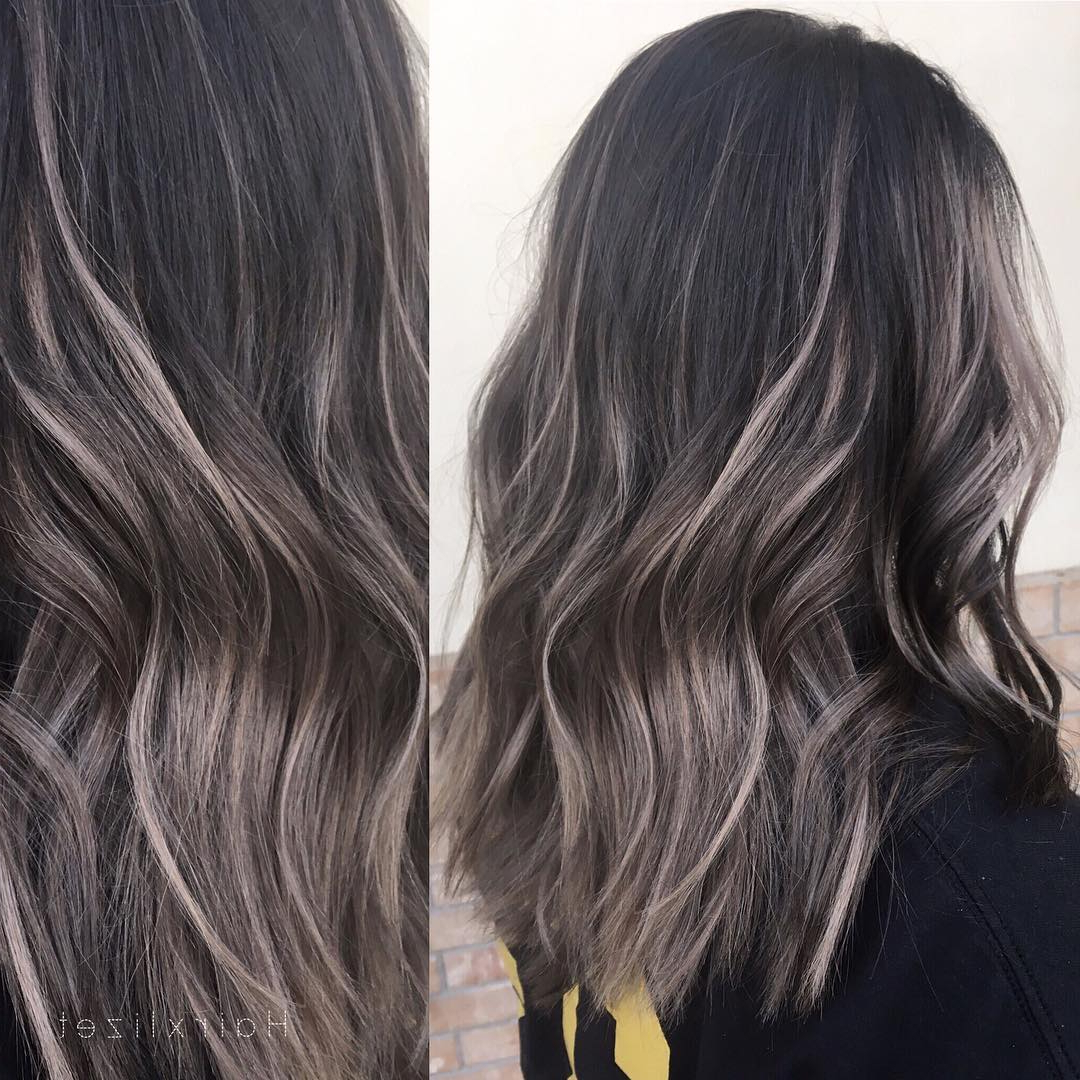 10 Everyday Medium Hairstyles For Thick Hair 2019: Easy Trendy In Well Liked Black And Brown Layered Haircuts For Long Hair (View 10 of 20)