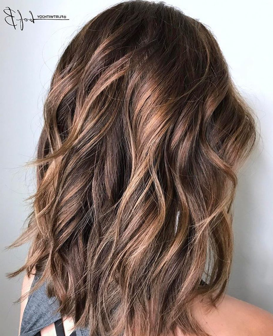 10 Layered Hairstyles & Cuts For Long Hair In Summer Hair Colors In Newest Long Brown Shag Hairstyles With Blonde Highlights (View 1 of 20)