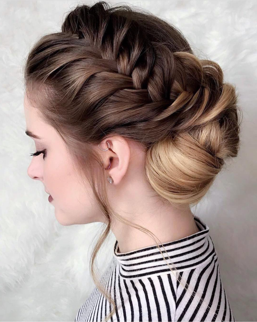 10 New Prom Updo Hair Styles 2019 – Gorgeously Creative New Looks Regarding Widely Used Asymmetrical Knotted Prom Updos (View 3 of 20)