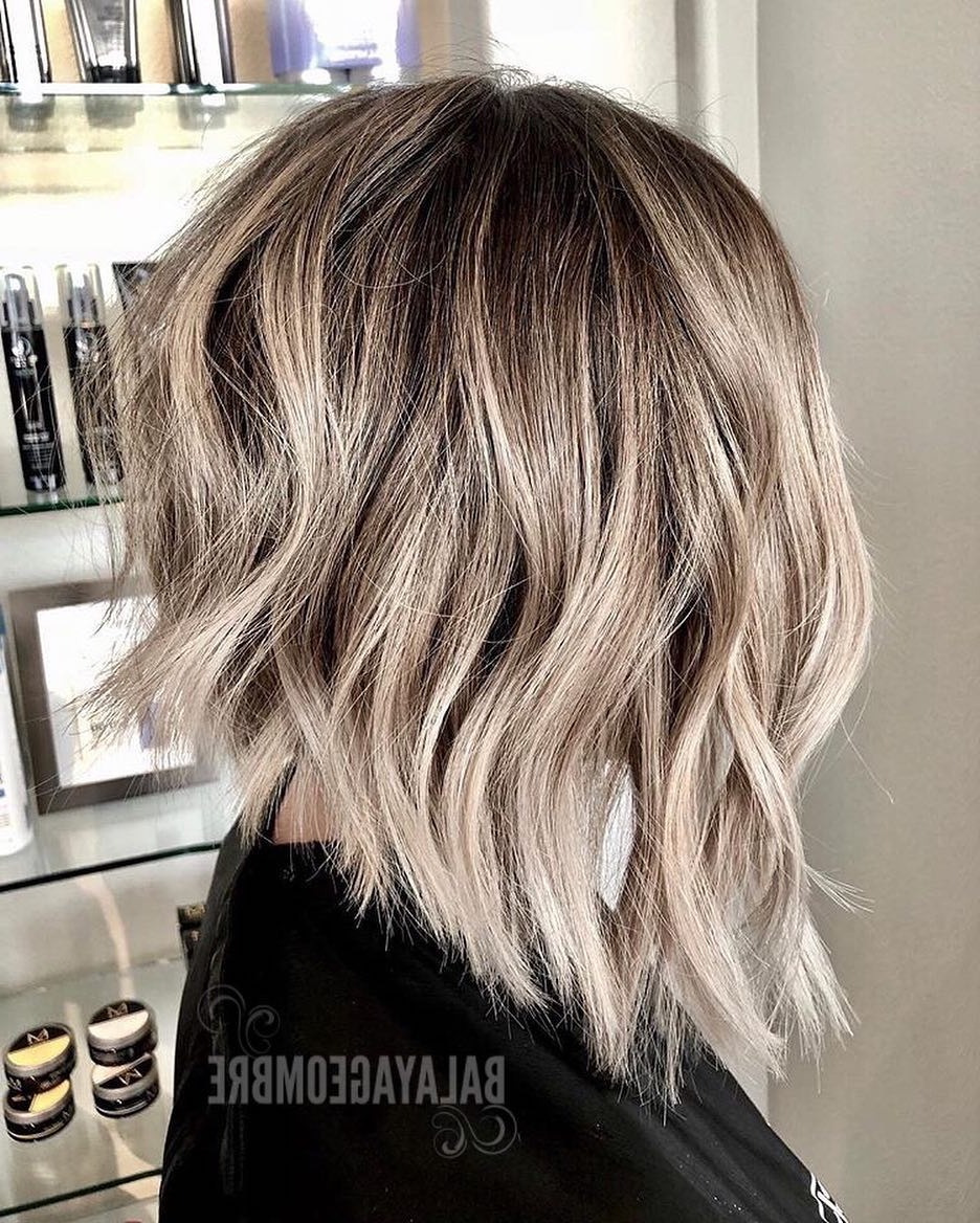 10 Trendy Ombre And Balayage Hairstyles For Shoulder Length Hair 2019 Throughout Most Recently Released Choppy Dimensional Layers For Balayage Long Hairstyles (View 1 of 20)
