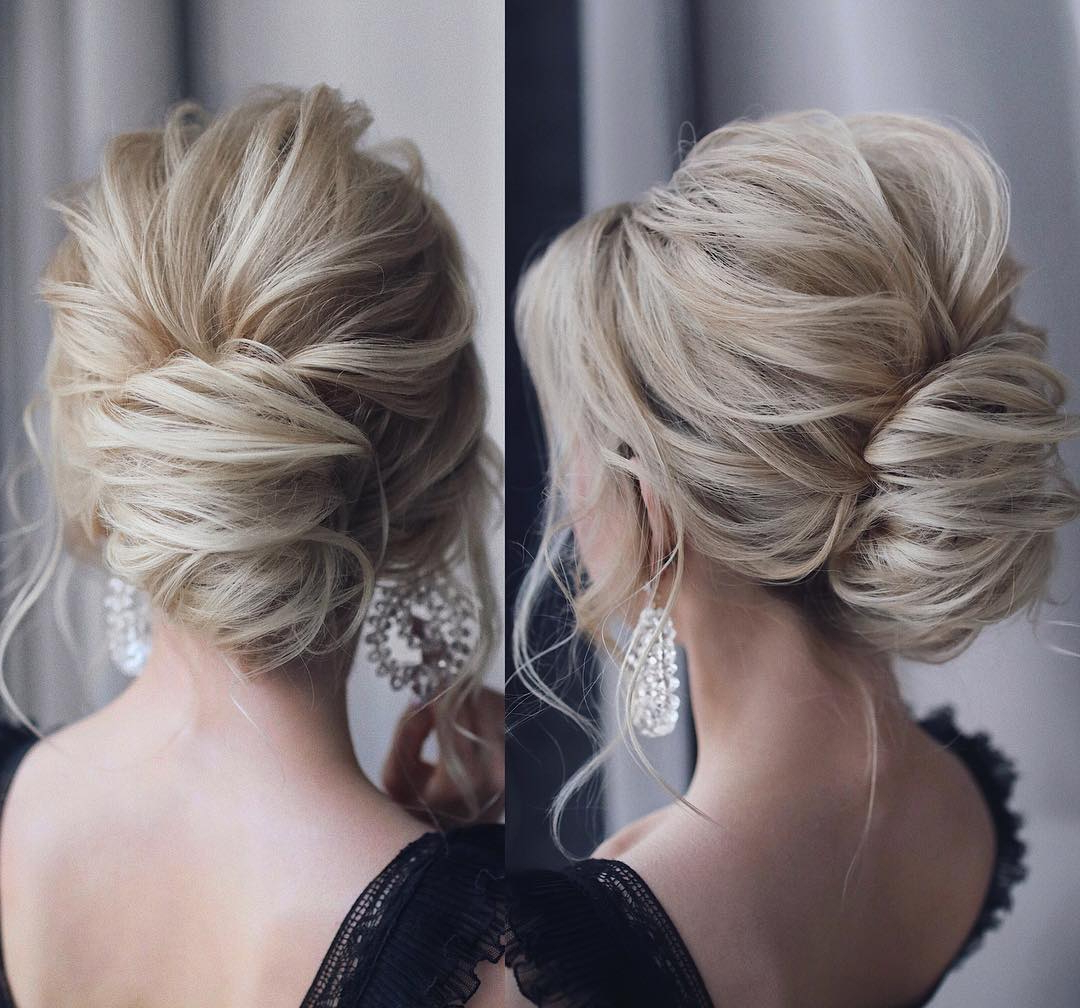 10 Updos For Medium Length Hair – Prom & Homecoming Hairstyle Ideas 2019 With Widely Used Low Pearled Prom Updos (View 16 of 20)