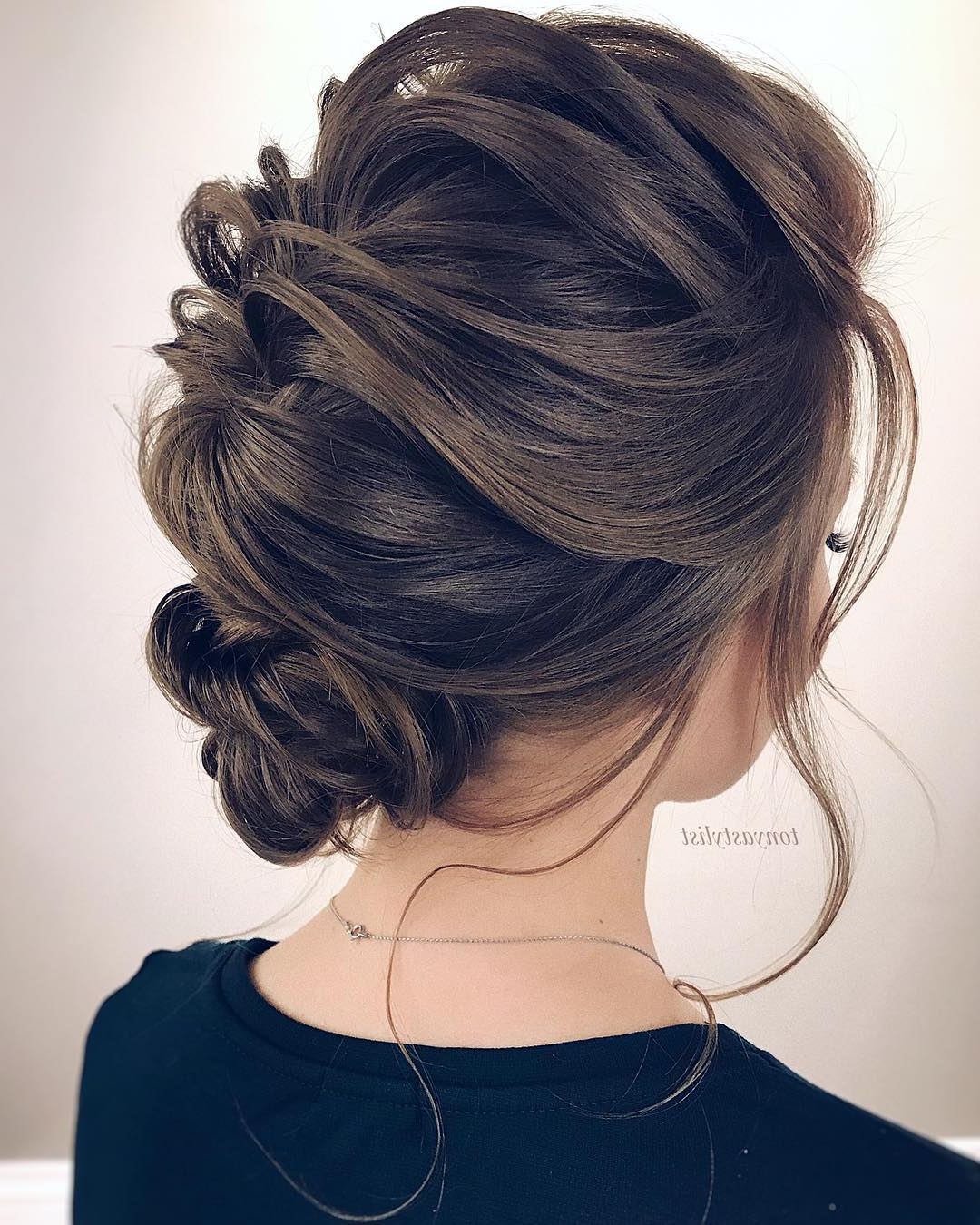 10 Updos For Medium Length Hair – Prom & Homecoming Hairstyle Ideas 2019 Within Popular Low Pearled Prom Updos (View 9 of 20)