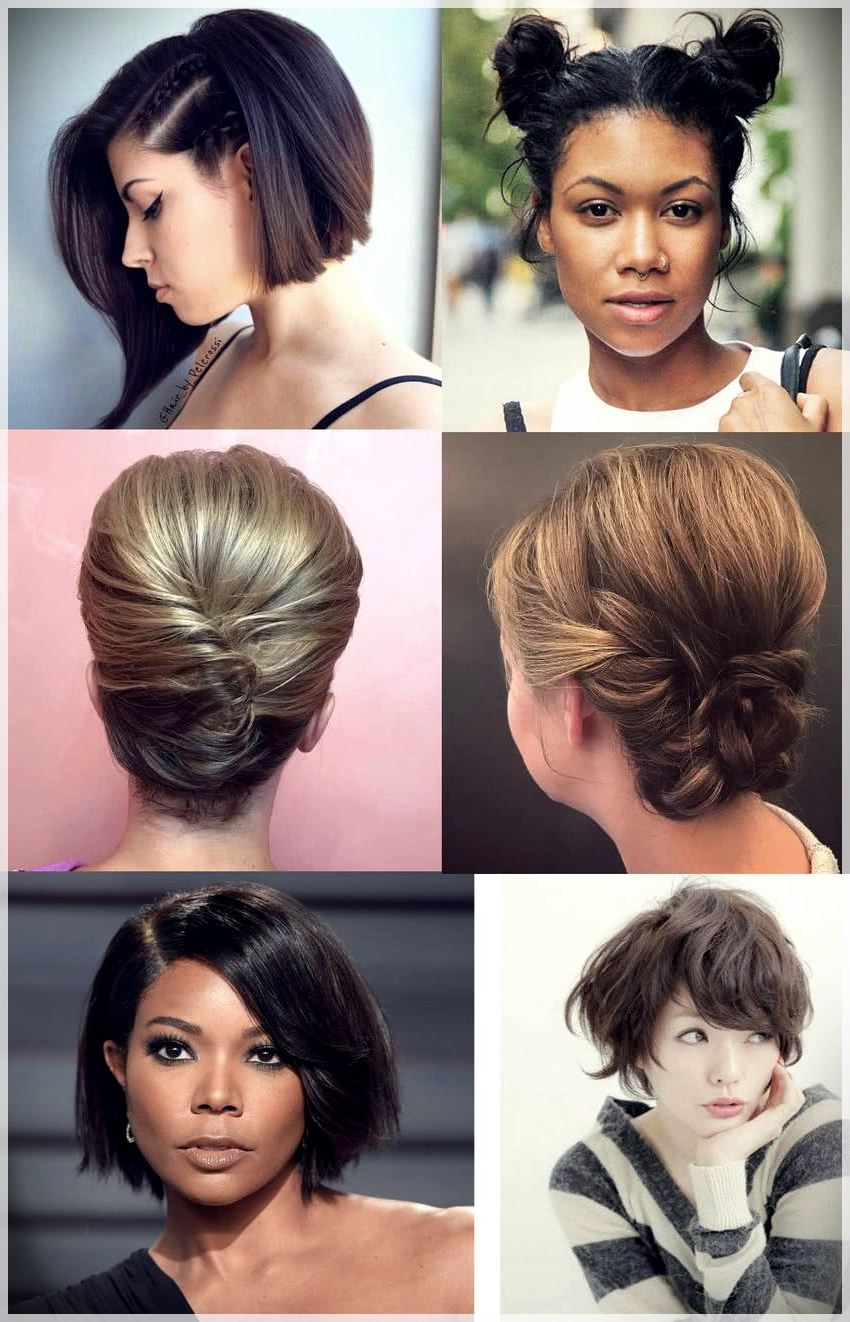 100 Hairstyles For Short Hair 2019 – Short And Curly Haircuts Throughout Famous Dishevelled Side Tuft Prom Hairstyles (View 1 of 20)