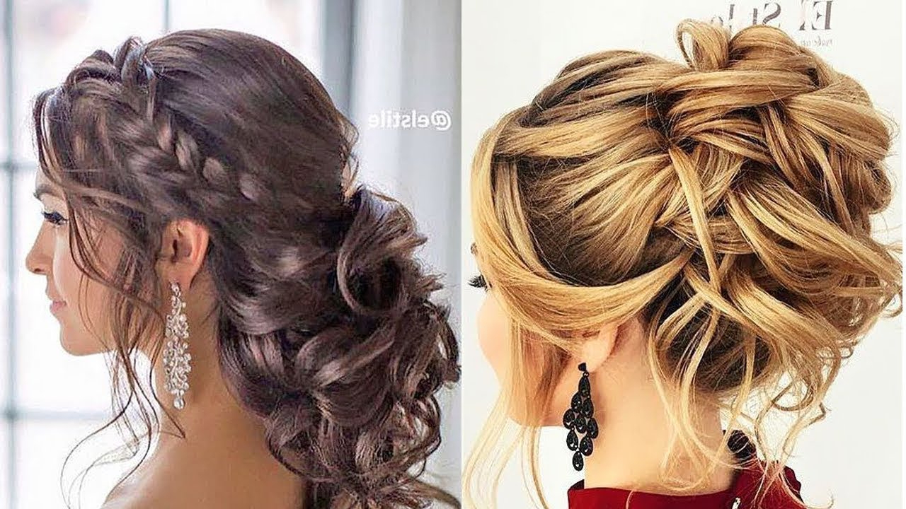 12 Romantic Prom & Wedding Hairstyles 😍 Professional Hair Ideas Intended For Most Popular Romantic Prom Updos With Braids (Gallery 2 of 20)