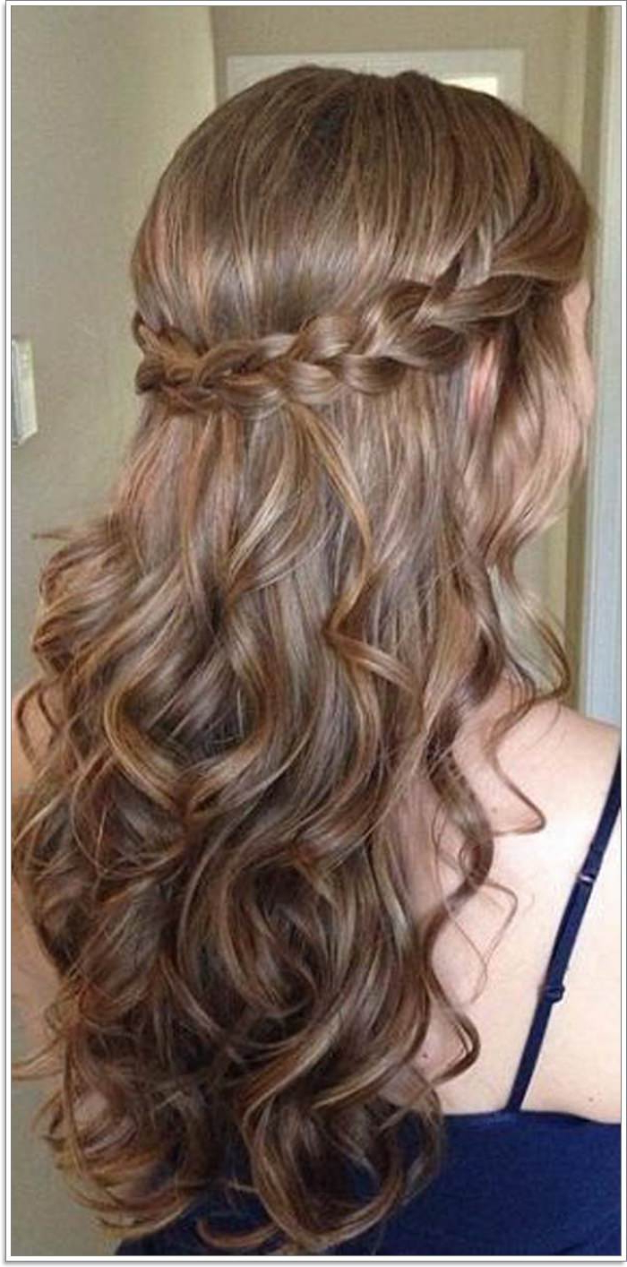 135 Whimsical Half Up Half Down Hairstyles You Can Wear For All With Regard To Trendy Curly Half Updo With Ponytail Braids (Gallery 6 of 20)