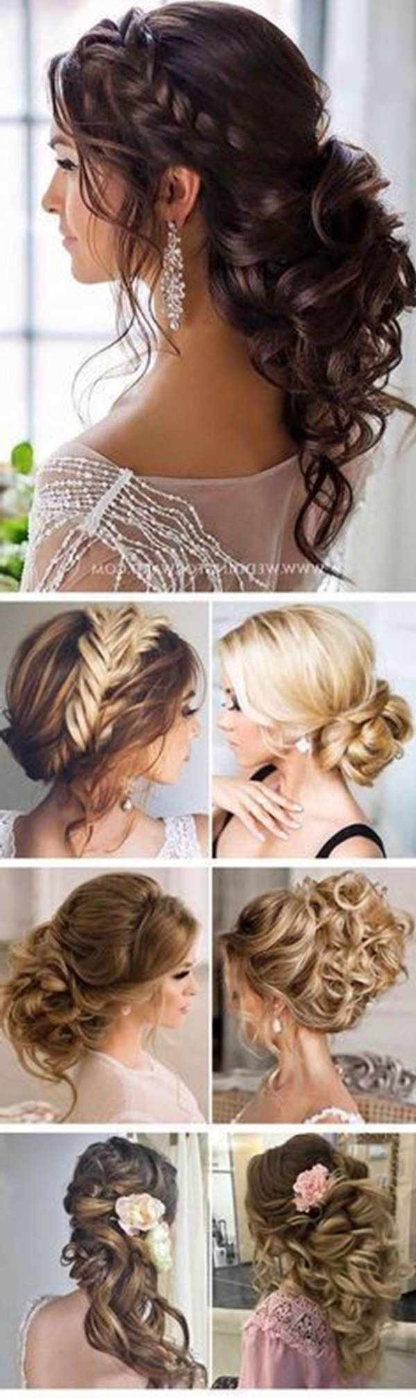 154 Updos For Long Hair Featuring Beautiful Braids And Buns Intended For Most Up To Date Classic Prom Updos With Thick Accent Braid (Gallery 20 of 20)