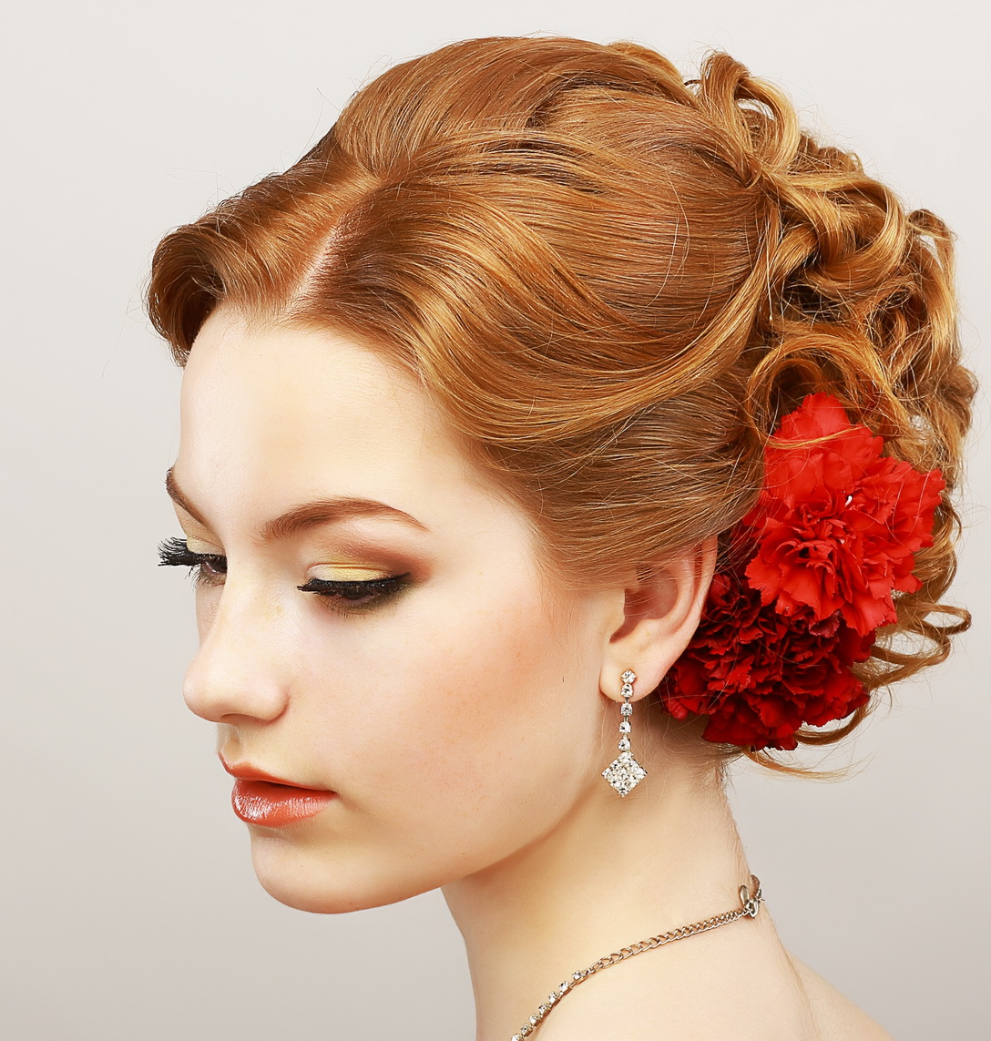 20 Inspirations Of Easy Curled Prom Updos