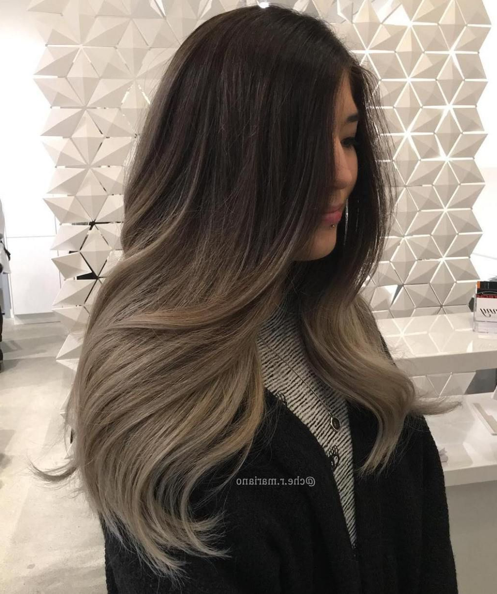 20 Head Turning Haircuts And Hairstyles For Long Thick Hair In 2019 Throughout Most Popular Long Thick Black Hairstyles With Light Brown Balayage (Gallery 12 of 20)