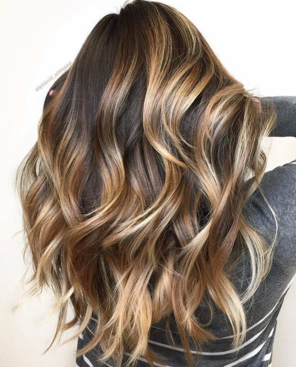 20 Head Turning Haircuts And Hairstyles For Long Thick Hair Regarding 2019 Long Thick Black Hairstyles With Light Brown Balayage (Gallery 2 of 20)