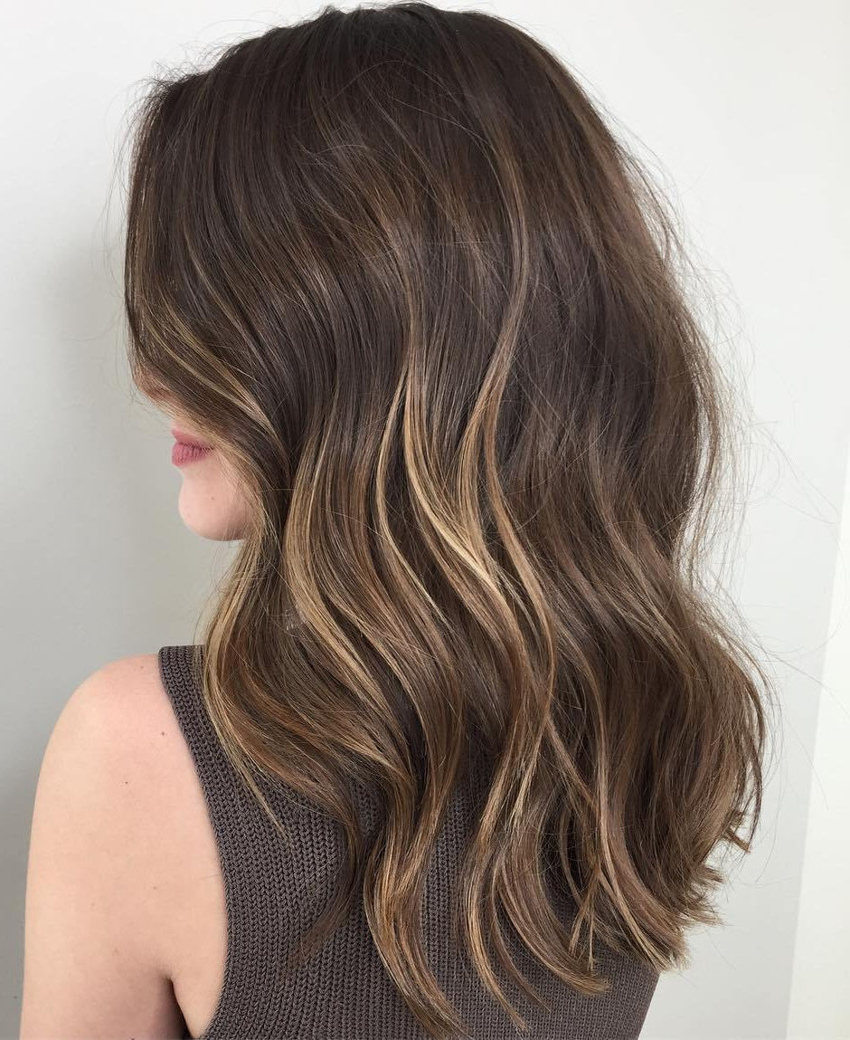 20 Jaw Dropping Partial Balayage Hairstyles In Fashionable Long Thick Black Hairstyles With Light Brown Balayage (Gallery 14 of 20)
