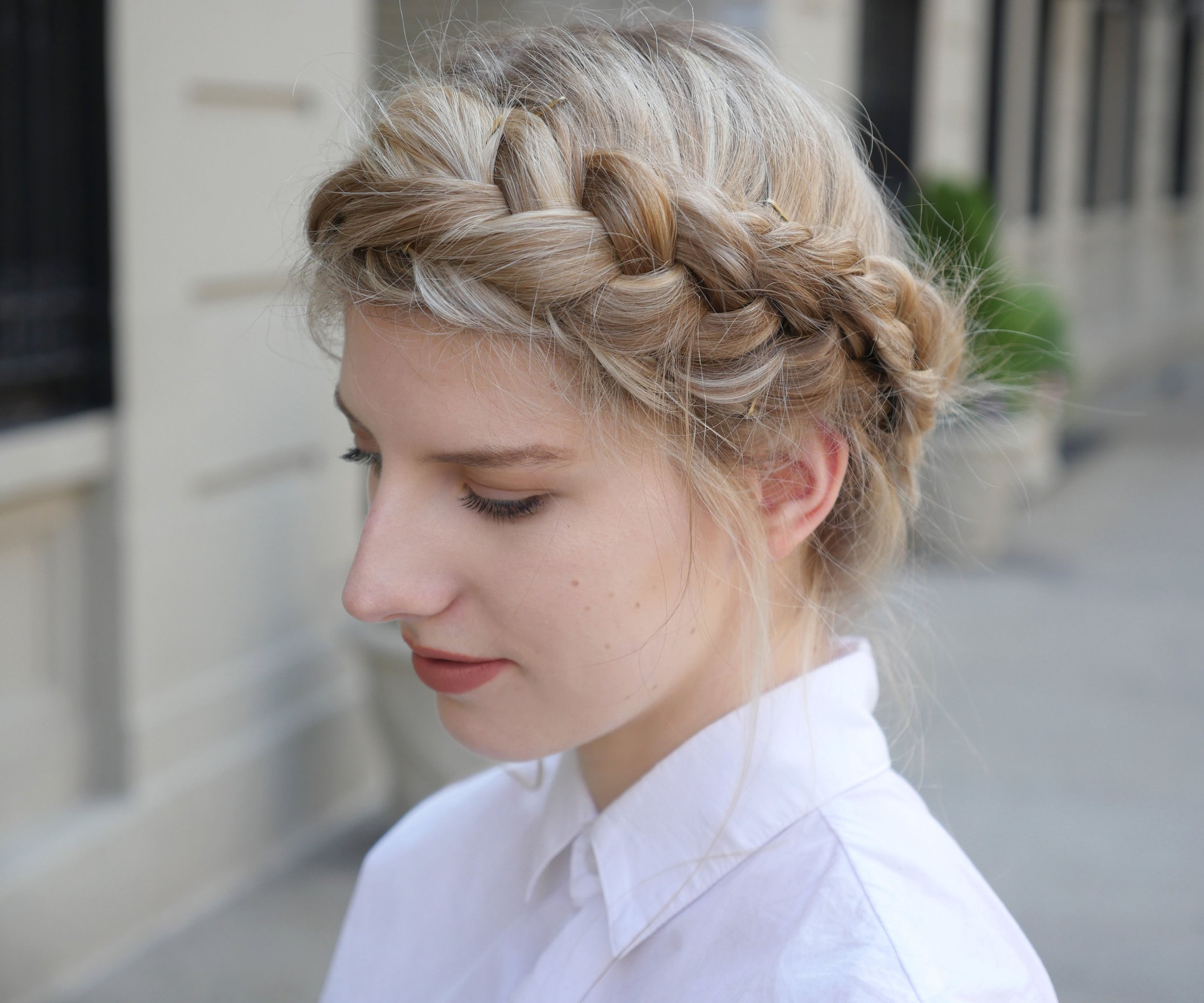 20 Royal And Charismatic Crown Braid Hairstyles – Haircuts For Most Recently Released Jewelled Basket Weave Prom Updos (View 8 of 20)