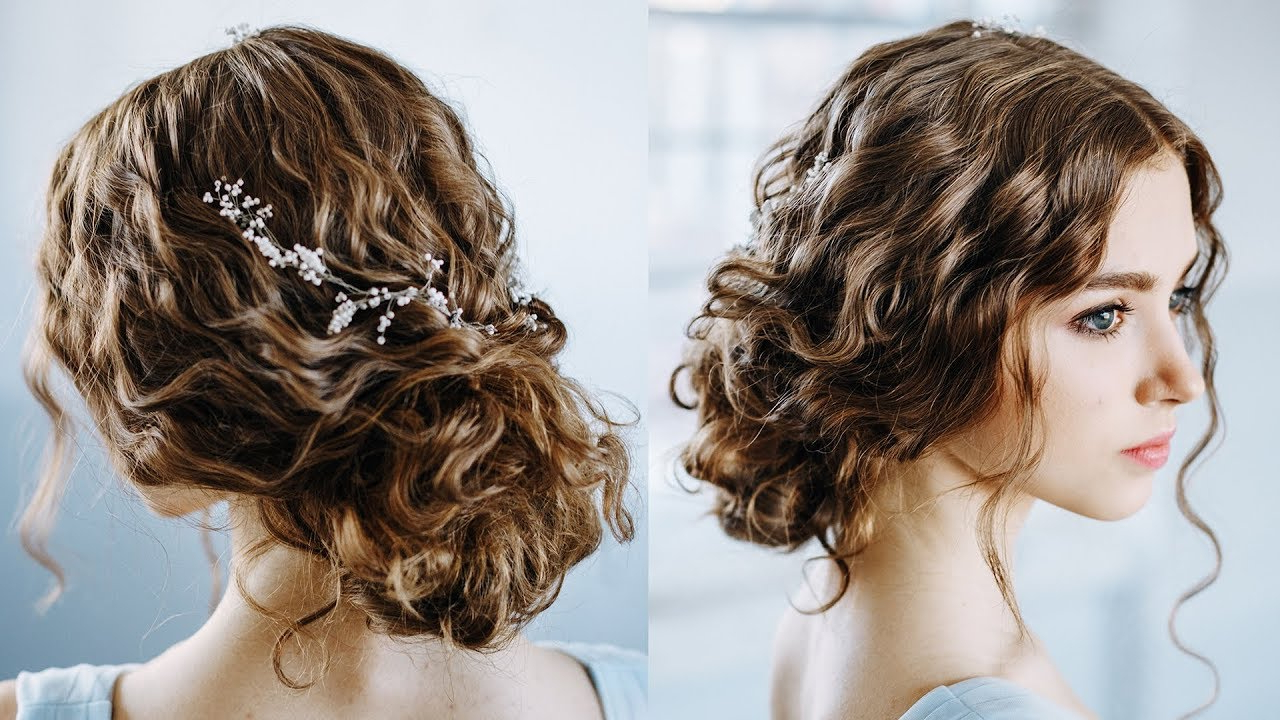 2017 Easy Curled Prom Updos Intended For Wavy Curly Hair Tutorial (Gallery 2 of 20)