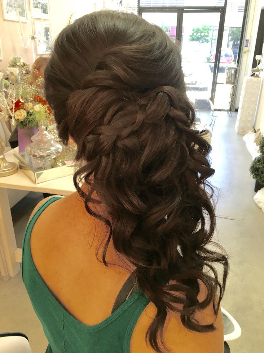 2017 Long Cascading Curls Prom Hairstyles With Wedding, Long Side Updo, Cascading  Www (View 4 of 20)