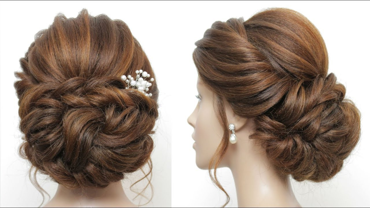2017 Messy Bun Prom Hairstyles With Long Side Pieces Intended For New Low Messy Bun. Bridal Hairstyle For Long Hair (View 12 of 20)