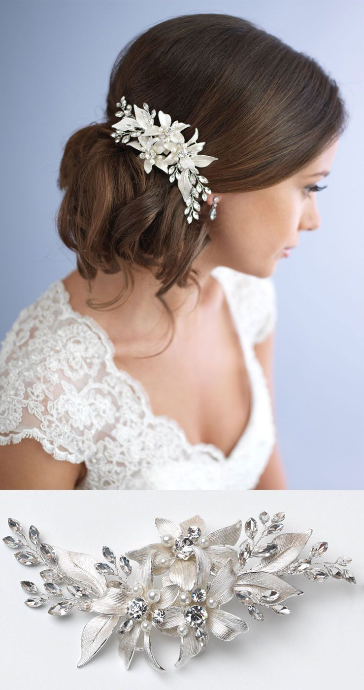 2017 Side Bun Prom Hairstyles With Jewelled Barrettes In Wedding Hair Inspiration <3 Love This Gorgeous Side Bun And Delicate (View 2 of 20)