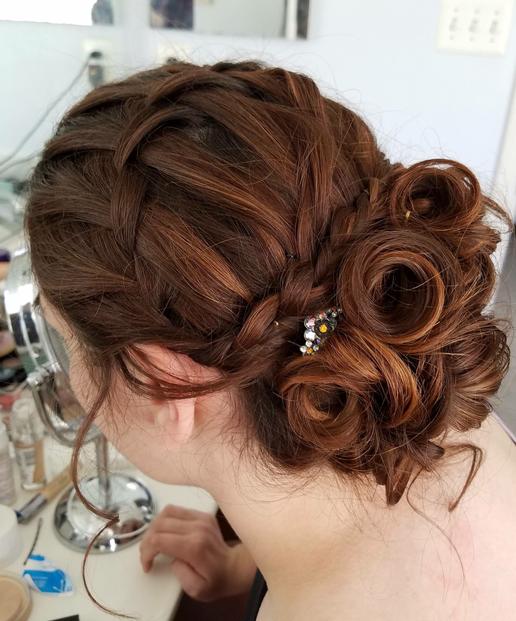 2017 Twisted And Curled Low Prom Updos Within Hairstyles : Hair Twisted Updo Bun Low Wedding Style Plus Hairstyles (Gallery 18 of 20)