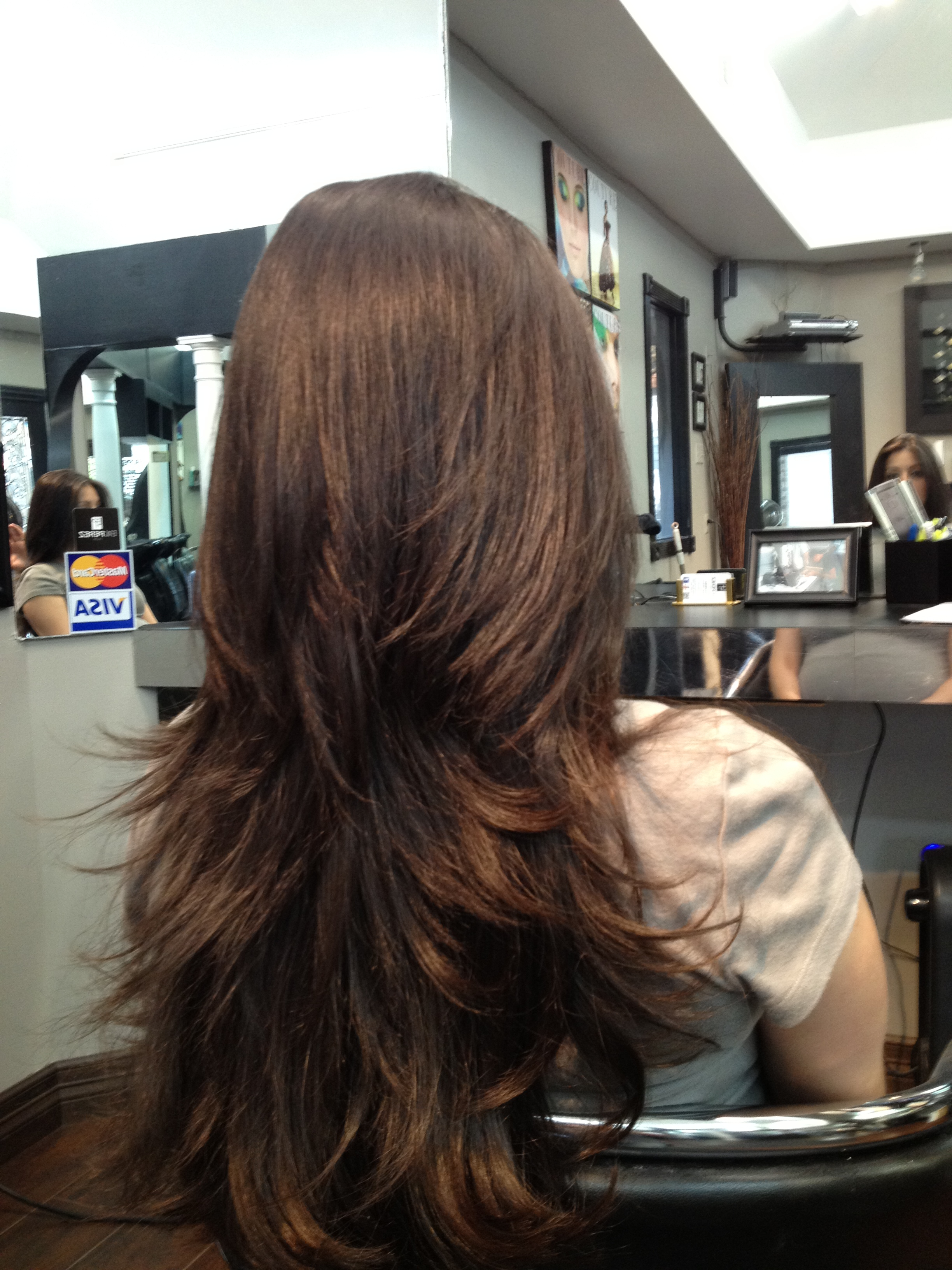 2018 Blowout Ready Layers For Long Hairstyles Intended For Houston Brazilian Blowout « Eric Perez Salon (Gallery 13 of 20)