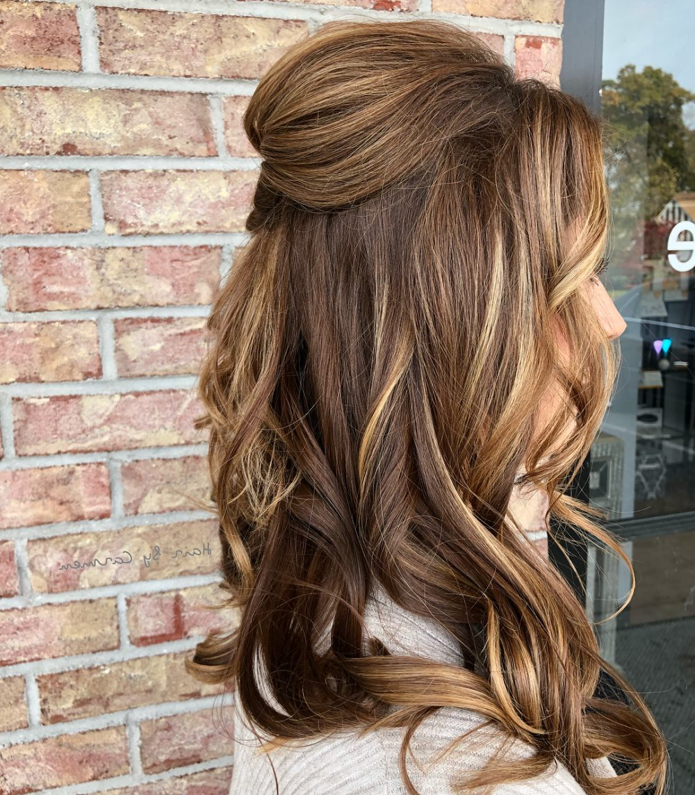 2018 Cascading Waves Prom Hairstyles For Long Hair With 32 Cutest Prom Hairstyles For Medium Length Hair For 2019 (Gallery 19 of 20)
