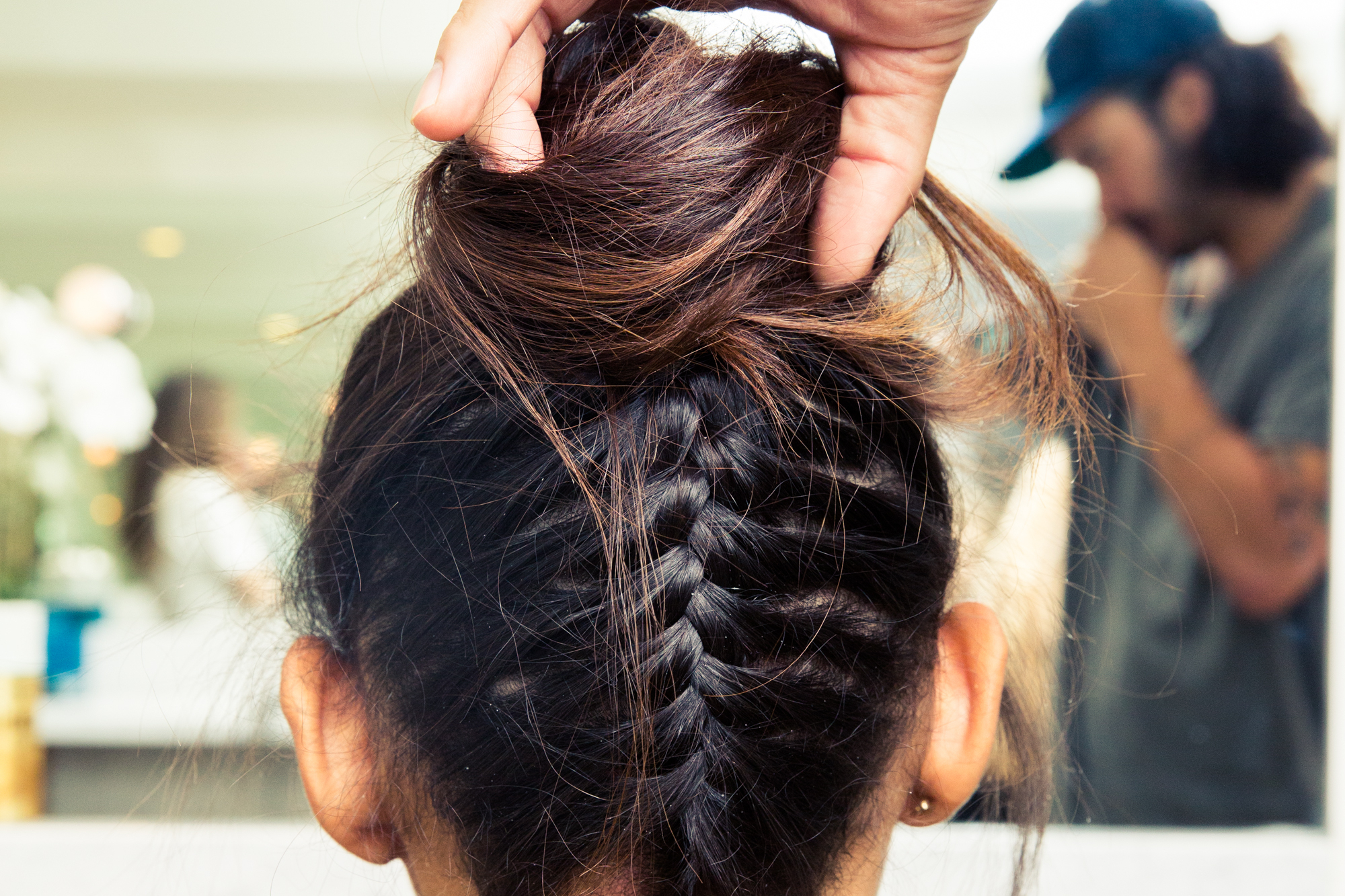 2018 Upside Down Braid And Bun Prom Hairstyles Intended For How To Do An Upside Down Braided Bun – Coveteur (View 20 of 20)