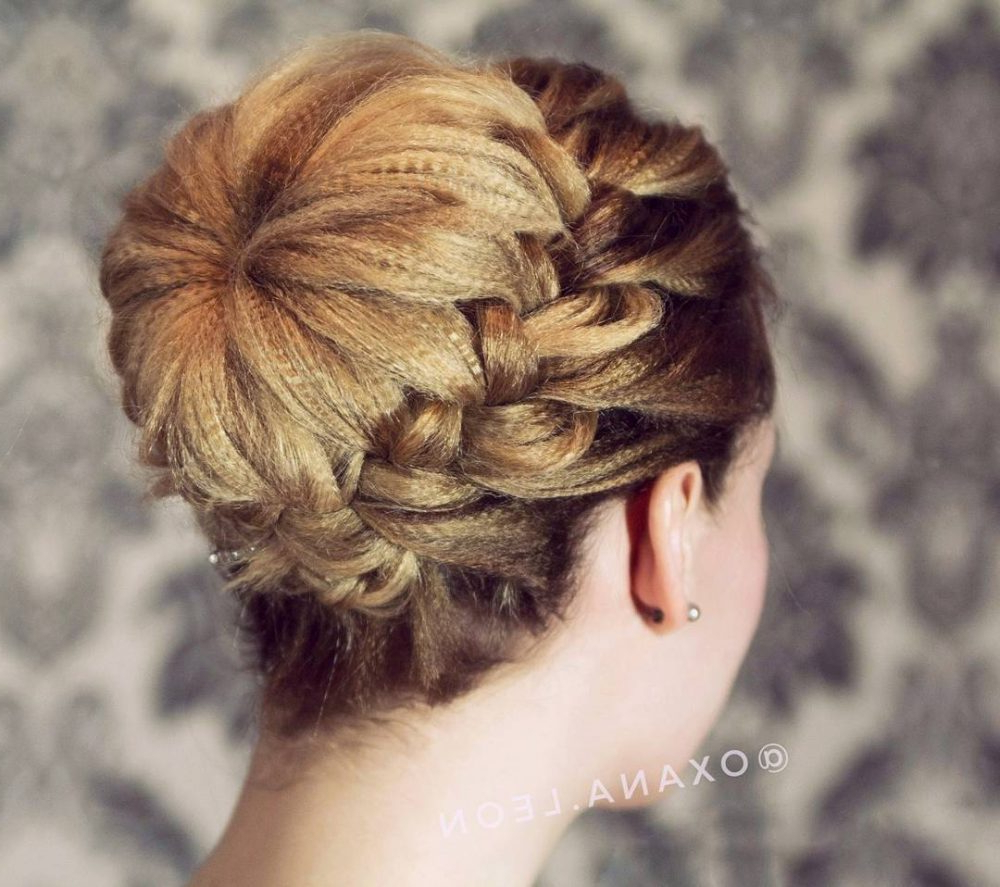 23 Cute Prom Hairstyles For 2019 – Updos, Braids, Half Ups & Down Dos Pertaining To Recent Upside Down Braid And Bun Prom Hairstyles (View 13 of 20)
