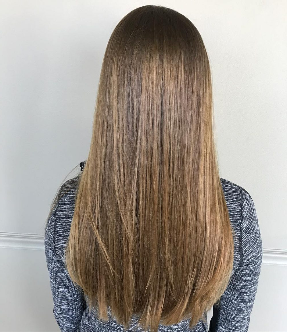 26 Prettiest Hairstyles For Long Straight Hair In 2019 Throughout Most Recent Straight Across Haircuts And Varied Layers (View 2 of 20)