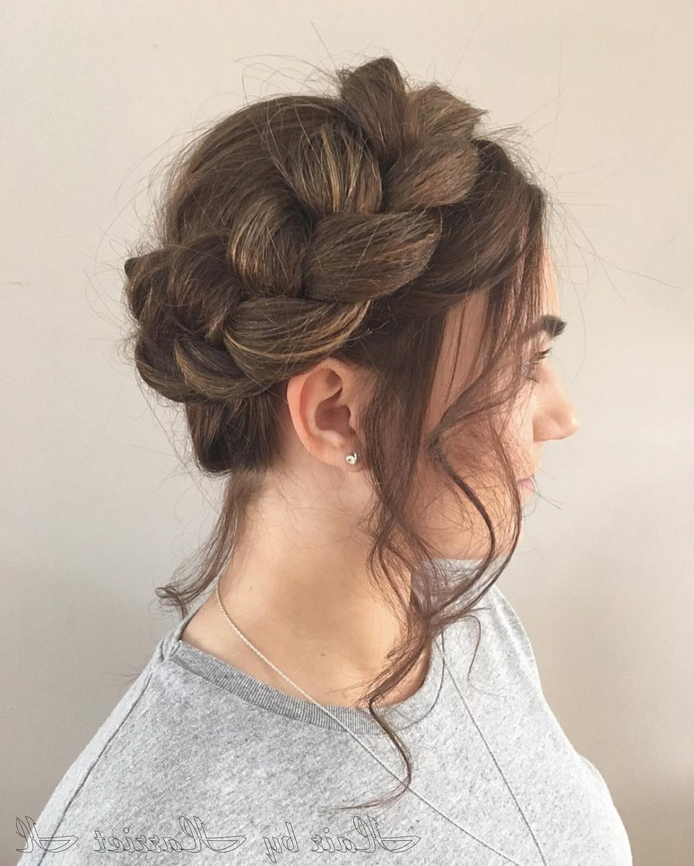 29 Gorgeous Braided Updo Ideas For 2019 Inside Trendy Side Bun Twined Prom Hairstyles With A Braid (View 13 of 20)