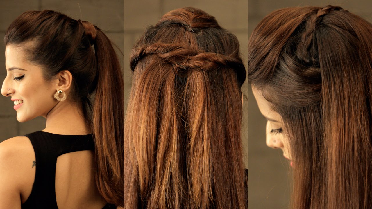 3 Easy Everyday Pouf Hairstyle For School, College, Work /no Teasing, No Hairspray/indian Hairstyles Within Newest Teased Prom Updos With Cute Headband (Gallery 14 of 20)