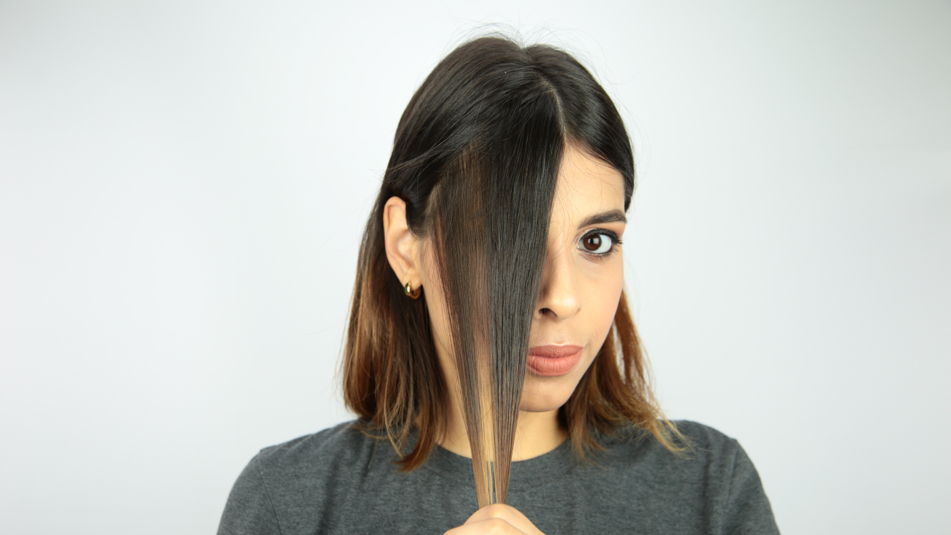 3 Ways To Fake Bangs – Wikihow Inside Most Popular Side Swept Curls And Draped Bangs Hairstyles (View 4 of 20)