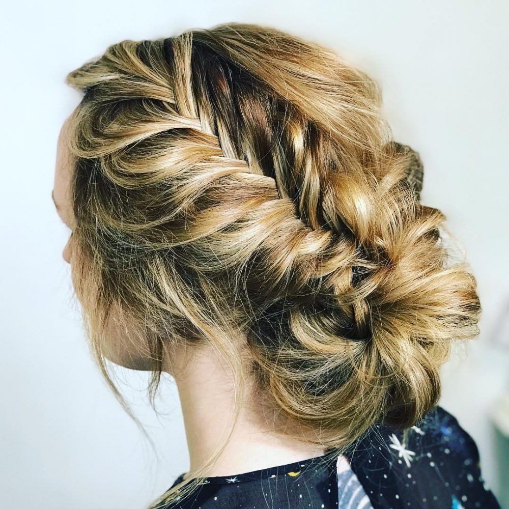 33 Breathtaking Loose Updos That Are Trendy For 2019 Intended For Most Recent Braided Chignon Prom Hairstyles (View 5 of 20)