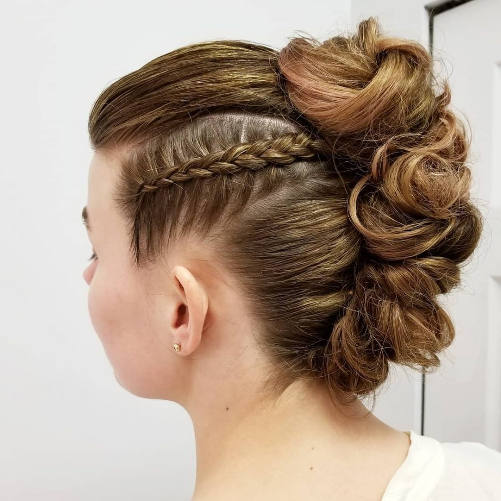 34 Cutest Prom Updos For 2019 – Easy Updo Hairstyles In Most Current Upside Down Braid And Bun Prom Hairstyles (Gallery 9 of 20)