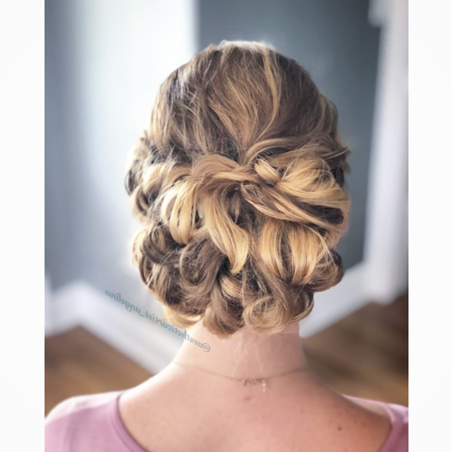 34 Cutest Prom Updos For 2019 – Easy Updo Hairstyles Pertaining To Favorite Asymmetrical Knotted Prom Updos (Gallery 6 of 20)