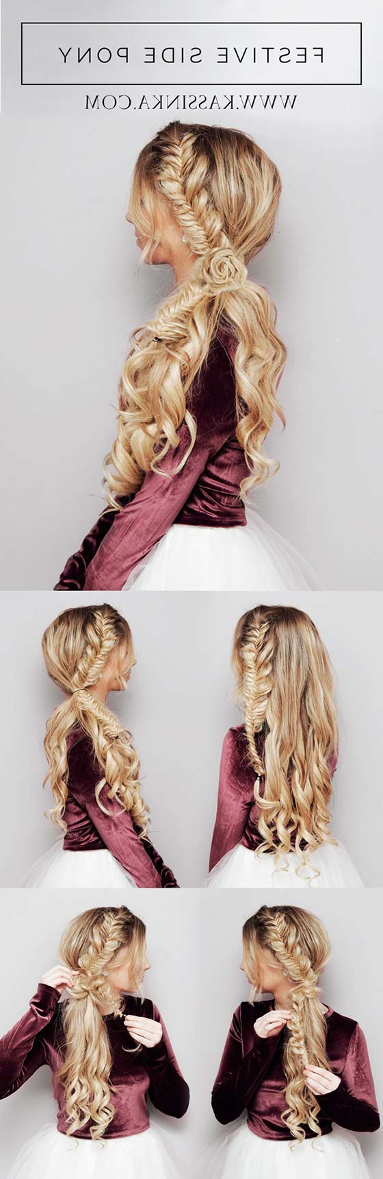 40 Braided Hairstyles For Long Hair Within Popular Textured Side Braid And Ponytail Prom Hairstyles (Gallery 17 of 20)
