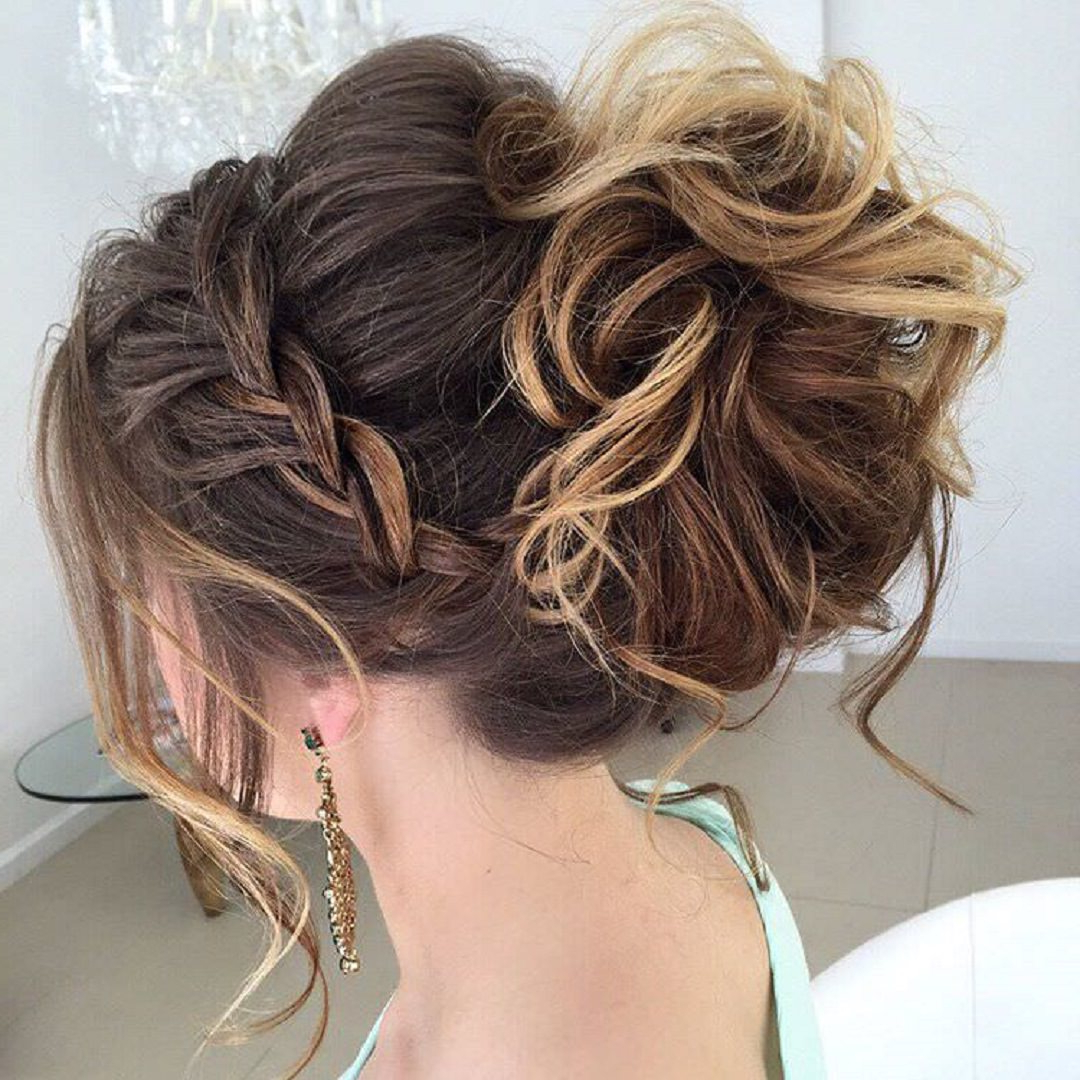 40 Most Delightful Prom Updos For Long Hair In 2016 – Fashion Daily Within Well Known Bun And Three Side Braids Prom Updos (View 6 of 20)