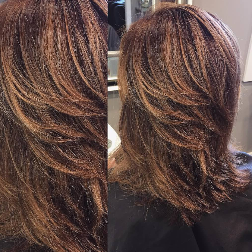51 Stunning Medium Layered Haircuts (Updated For 2019) Inside Best And Newest Long Feathered Haircuts With Layers (View 8 of 20)