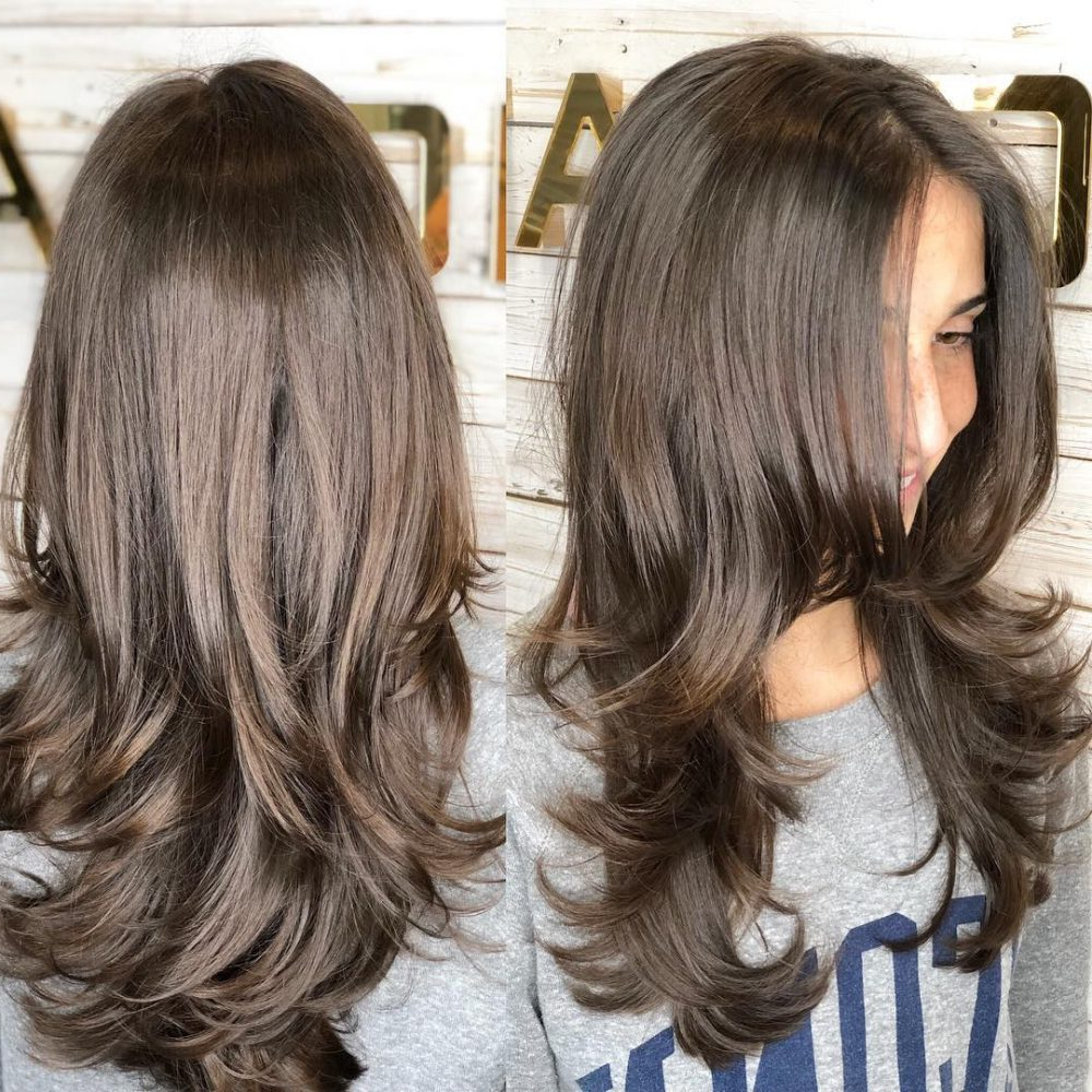 55 Perfect Hairstyles For Thick Hair (Popular For 2019) Throughout Latest Classic Layers Long Hairstyles For Volume And Bounce (View 9 of 20)