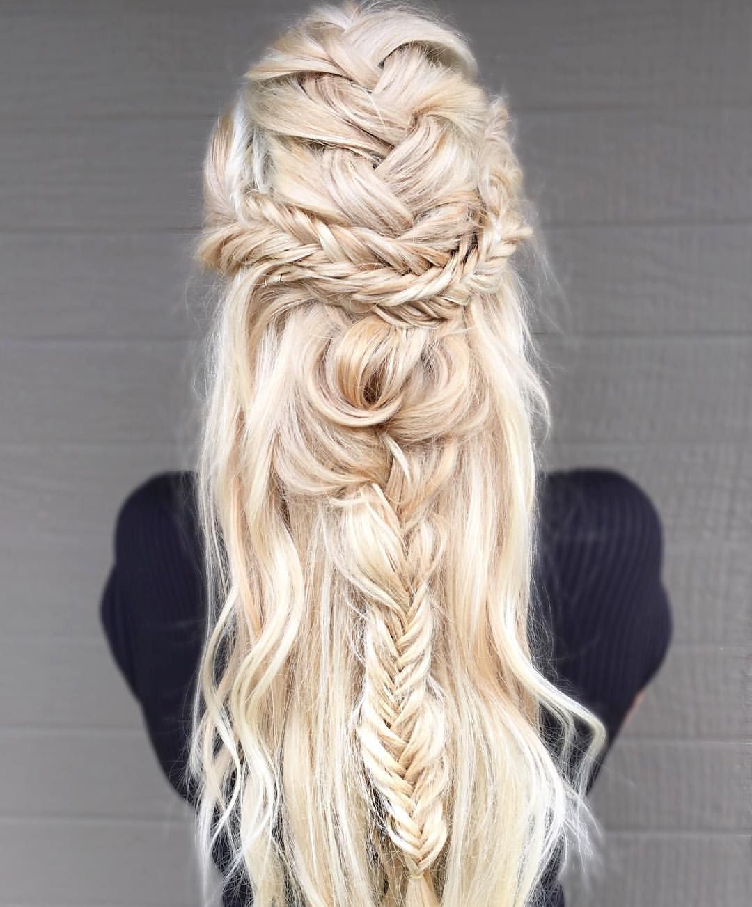60 Cute Boho Hairstyles For Short, Long, Medium Length Hair Pertaining To Most Recent Braid Spikelet Prom Hairstyles (View 4 of 20)