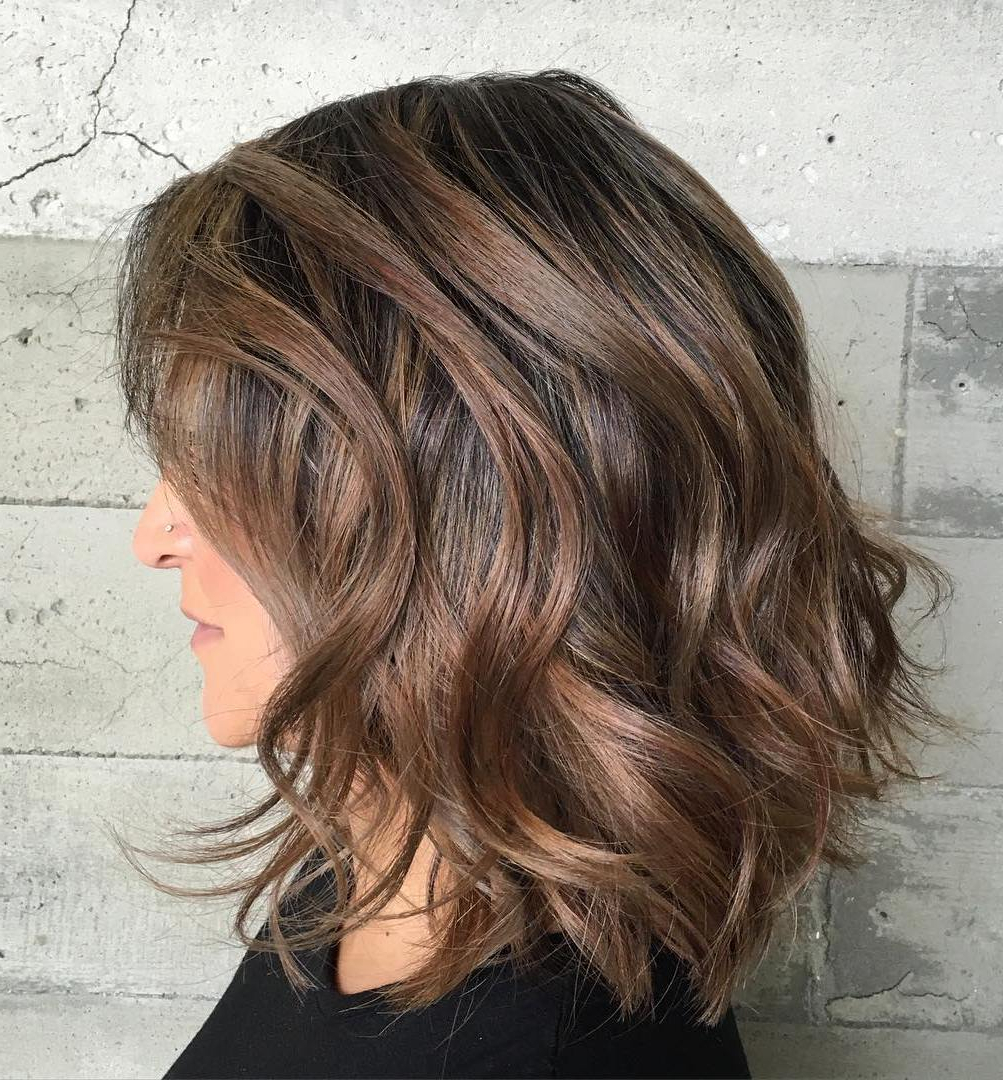 60 Most Magnetizing Hairstyles For Thick Wavy Hair Inside Well Known Choppy Chestnut Locks For Long Hairstyles (View 6 of 20)