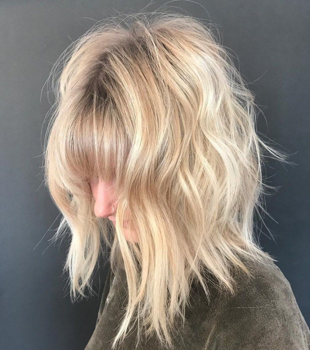 70 Perfect Medium Length Hairstyles For Thin Hair In 2019 With Regard To Most Current Long Texture Boosting Layers Hairstyles (View 11 of 20)