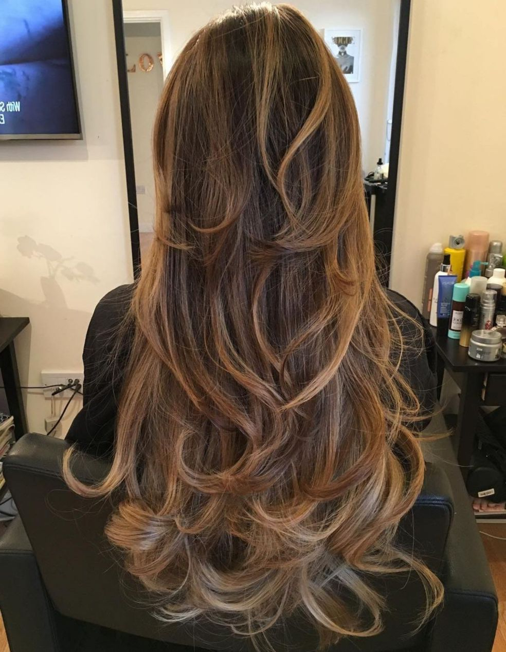 Featured Photo of Choppy Chestnut Locks For Long Hairstyles