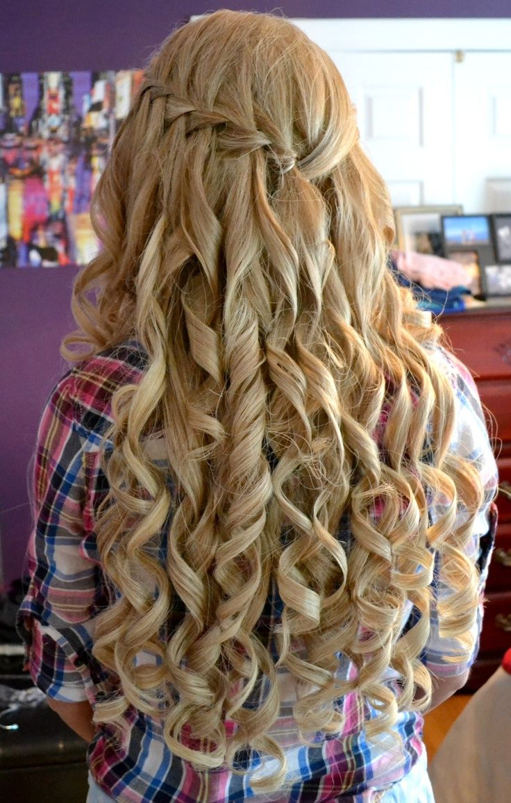 Amazing Curly Long Blonde Homecoming And Prom Hairstyle (View 5 of 20)