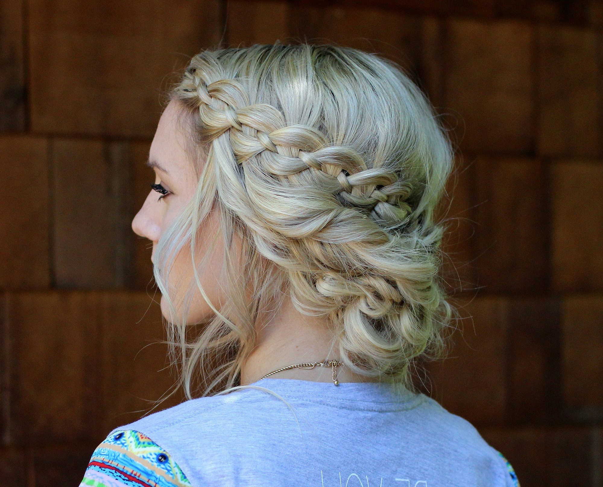 Annie's Forget Me Knots Youtube Channel: Four Strand Braid Into In Newest Fancy Knot Prom Hairstyles (View 6 of 20)