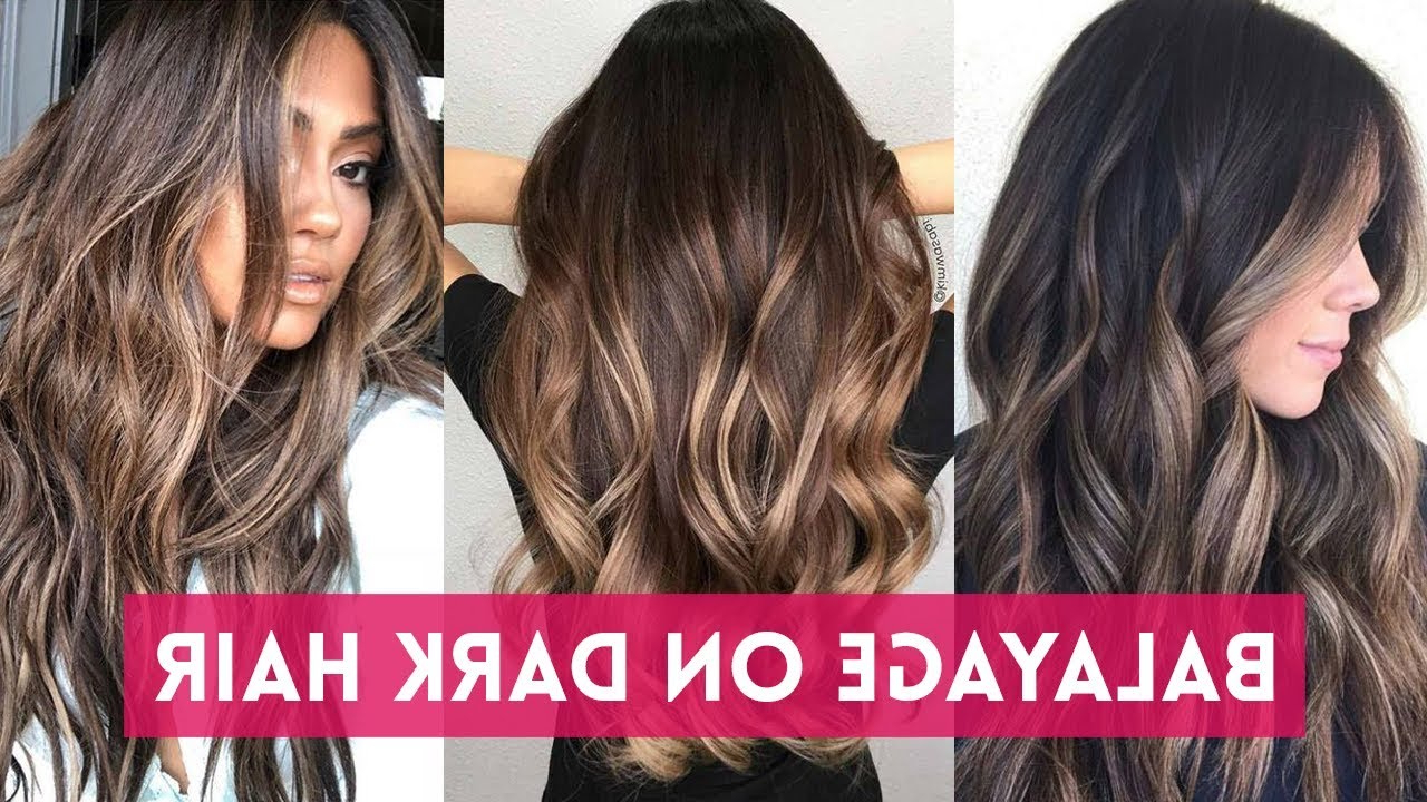 Balayage Highlights On Dark Hair 🖤 Balayage Ombre For Brunettes With Regard To Famous Long Thick Black Hairstyles With Light Brown Balayage (View 15 of 20)